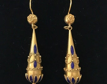 Victorian Etruscan Revival Style Earrings