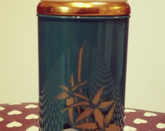 Green vintage thermos with motive panda VACCO brand new