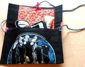 Heavy Metal Handbag Ghost Purse Made From a Canvas Back Patch