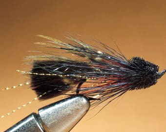 Hand-Tied Trout Flies:  Classic Muddler Minnow Streamer – Assorted Sizes 8, 6, & 10.  Three Different Colors