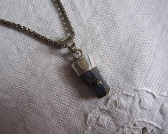 Blue Himalayan kyanite Crystal pendant and silver (11)