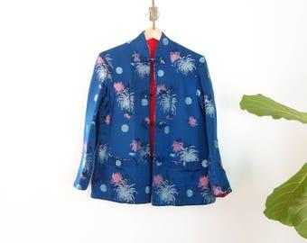vintage Chinese brocade two way jacket
