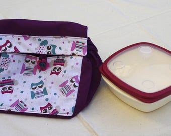 Lunch bag to take his lunch, snack with Pocket for cutlery bag, bag for sandwich, bag, picnic, outdoor dining