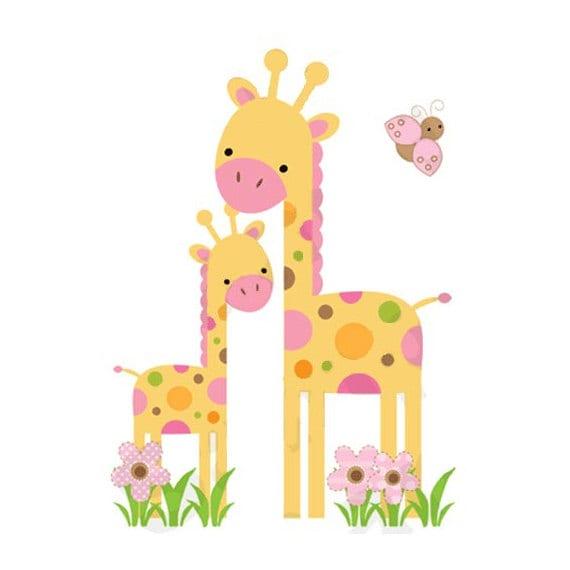 Safari Nursery Decor Giraffe Decal Jungle Animals Wall Art