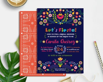 Fiesta Bridal Shower Invitation Printable, Fiesta Bridal Shower Invite, Mexican Bridal Shower Invitation, Fiesta Party Invite