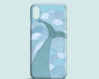 Mermaid phone case, iPhone X, iPhone 8, iPhone 7, iPhone 7 Plus, iPhone SE, iPhone 6S, iPhone 6, iPhone 5S, illustration iPhone case