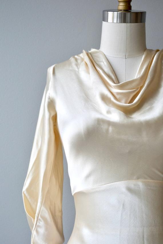 Adair Seide Brautkleid Jahrgang 1930 Brautkleid Schrägband