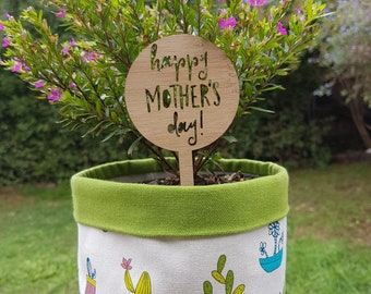 Happy Mothers Day plant marker-plant peg-plant decoration-floral-flowers-flowerpot-mum-mom-pot plant-potted plant-gran-grandma-nan-nanna-oma