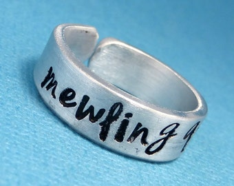 The Avengers Inspired - mewling quim - Hand Stamped Aluminum Ring