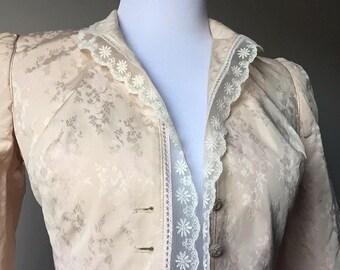 floral lace antique jacket/blazer