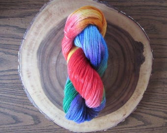 Rainbow Kool - Hand Painted/Indie Dyed Sport Weight Yarn 100% Wool