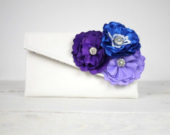 Purple Bridesmaid Clutches, Gifts, You Choose Your colors