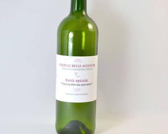 Godmother wine bottle label
