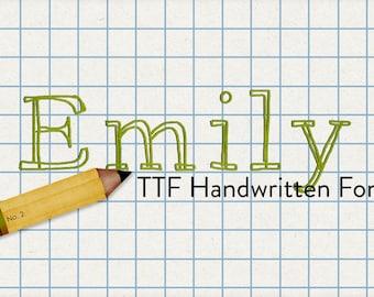 alphabits - emily's hand ttf font - automatic download