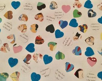 100 handmade Disney Snow White confetti