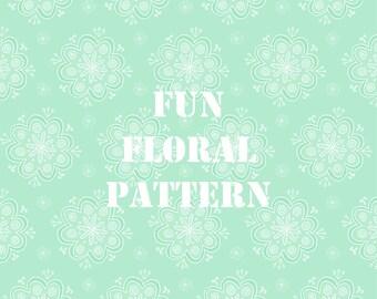 Fun Colourful Floral Pattern Digital Paper