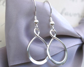 Infinity Earrings in your choice of Sterling or Rose Gold