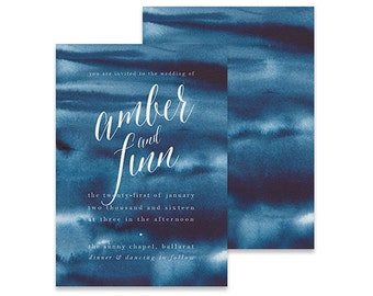 Bohemian Wedding Invitation | Bohemie | Printable DIY Invite, Affordable Wedding Invitation | Watercolor wash with calligraphy