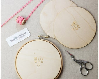 5 inch Wooden Backs For finishing Embroidery Hoops. Pack of 3 Embroidery Hoop Backs. Embroidery Hoop Art. Embroidery Hoop Finishing Tutorial
