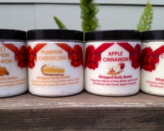 Fragrance Body Butters/100% Pure & Organic Fragrance/Shea Butter/Holiday/Moisturizing/Variety of Fragrances