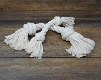 Dog Toy Rope Chew - 100% Natural Cotton - Dog Toy - Dog Chew - Large Dog Chew Toy - Small Toy - Natural Dog Toy - Handmade - Free Shipping