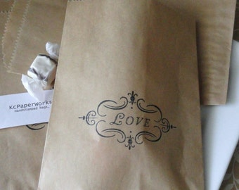 Love Candy Bag - Gift Sack - Treat Bag - Set of 10 - Wedding - Candy Buffet - Bridal  Shower - Party favor - Birthday - for her - Valentines