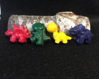Dinosaur crayons. Party favors. Dinosaur Party