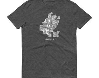 Edmonton Shirt, Edmonton AB, Canada, Edmonton TShirt, Edmonton Gift, Edmonton Tee, Edmonton Map, Canada Shirt, Alberta Map, Alberta Shirt