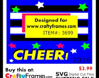 ITEM # CF-3699 -Yellow Cheer Black and White Stripes - SVG Cutting Machine File - Instant Download - Commercial Use - 2.99