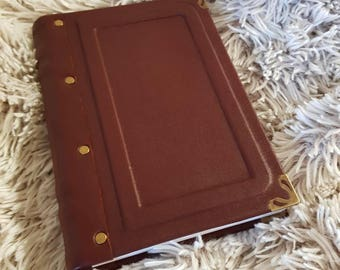 Classic leather notebook, completely handmade.