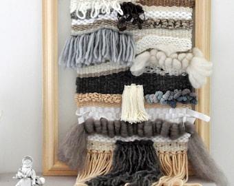 Woven wall hanging - wall hanging - Weawing - modern weaving - handwoven - wallart - bohemian bead weaving