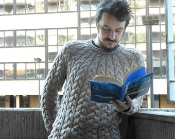 Câble aran tricot pulls pulls en laine, laine mérinos, tricots faits à la main, sur mesure