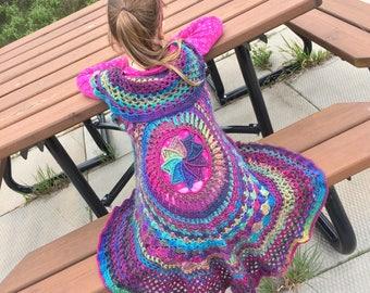 Girls Rainbow Top, Girls Vest, Mandala Vest, Rainbow Vest, Girls Mandala, Rainbow Mandala, Boho Clothing, Gypsysoul, Hippie Clothing