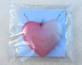 READY TO SHIP - Resin heart necklace
