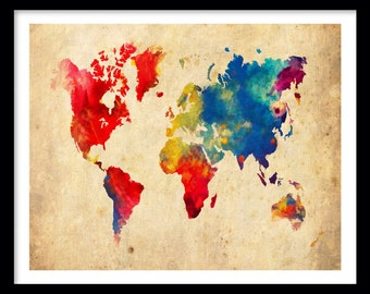 World map abstract painting print poster world map abstract world map map sepia grunge effect 18 x 24 print poster gumiabroncs Image collections