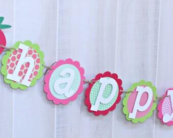 Strawberry Birthday Banner - Strawberry Shortcake Birthday Party Banner - Strawberry Party Banner