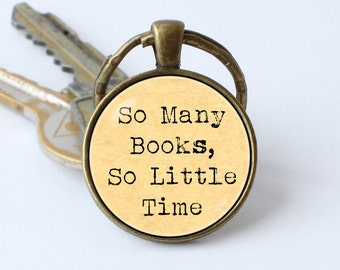 Bookish keychain Bookworm keyring Book jewelry Librarian pendant Bookworm quotation Book lover key chain Bibliophile keyring Reader jewelry