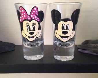 Vaso de chupito de Minnie y mickey