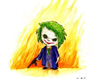 Joker Watercolor Print