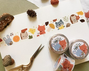 In The Forest - Squeaky Washi Tape (WIDE & PREMIUM)