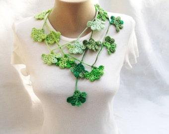 PDF Tutorial  Pattern... Crochet Scarf, Lariat  Necklace -5