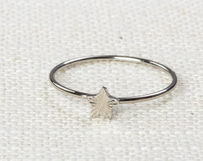 Star Midi Vintage Ring Silver Knuckle Ring US Womens Sizes 7D