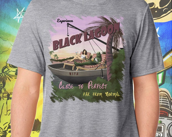 Creature from the Black Lagoon / Men's Gray Performance T-Shirt