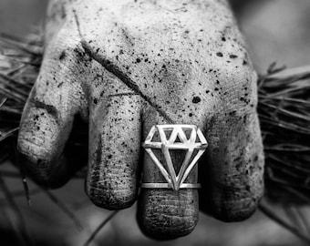 Diamond ring  handmade unique  design free shipping classic jewelry sale precious style