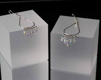Sparkly Crystal Swarovski Chandelier Earrings
