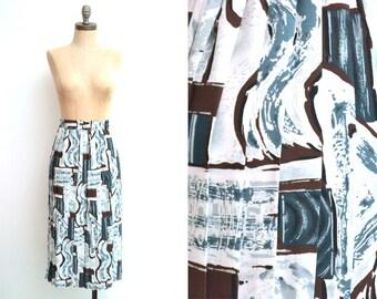 Vintage Pleated Skirt / 90s Skirt / Midi Skirt / Boho Skirt / Bohemian Skirt / Summer Skirt / Gift for Girlfriend / Gift for Her