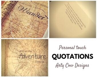 Quotation - Personalise, customise