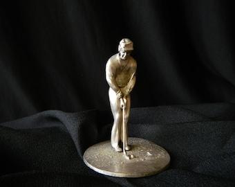 Slavko Dugar vintage sculpture golfer