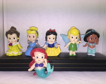Mister A Gift DISNEY PRINCESSES set of 6 plastic Cake Toppers