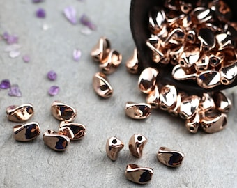 Rose gold beads Etsy